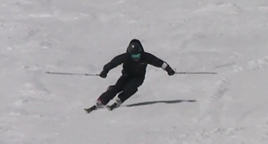 スキー検定 2級 大回り 外足荷重