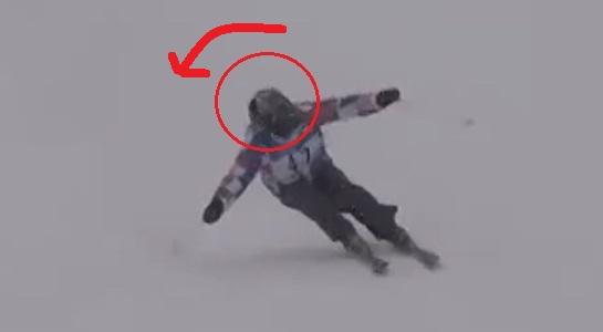 スキー 内倒 頭