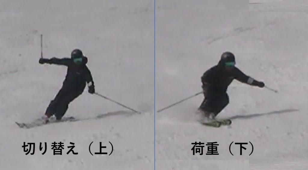 スキー検定 2級 大回り 上下動