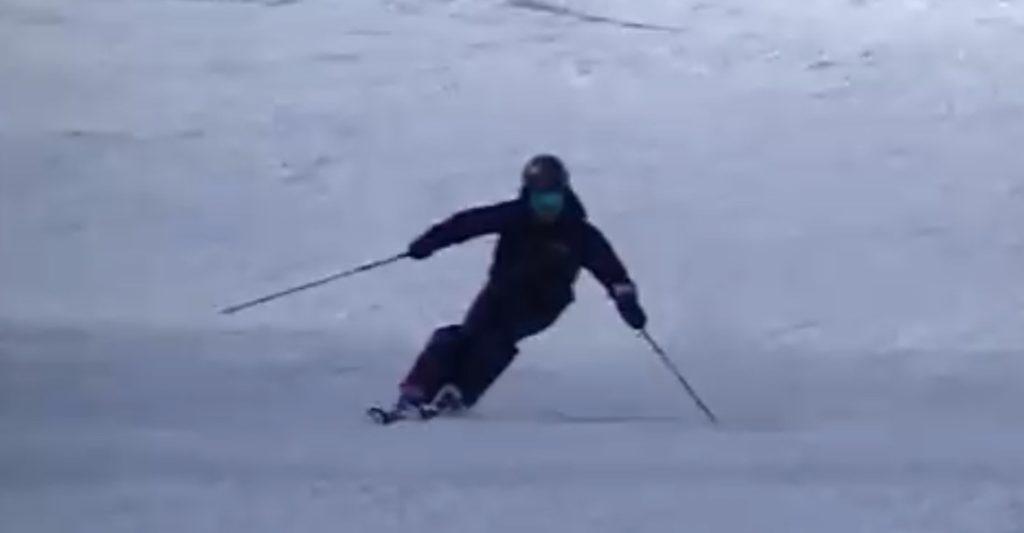 スキー検定 2級 シュテムターン 内足
