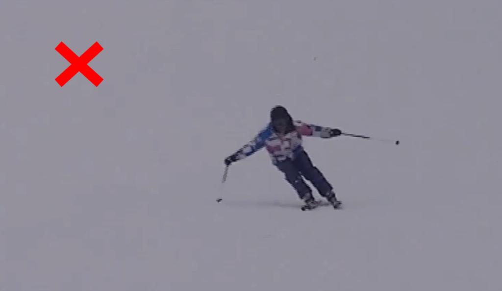 スキー検定 2級 大回り 不合格例 上下動