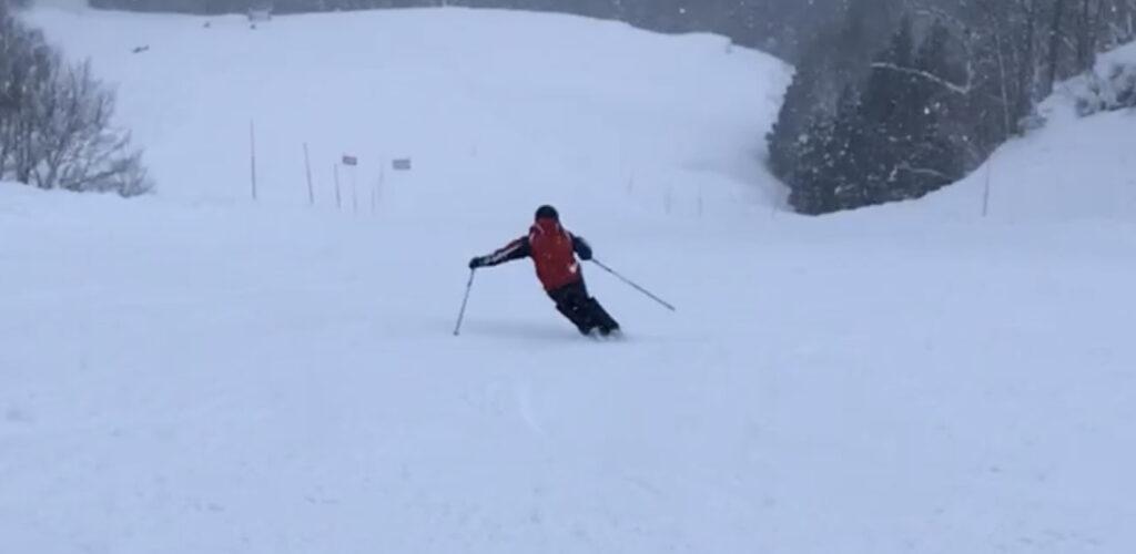 スキー 検定 前走 見本